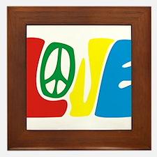 lovePeace Framed Tile