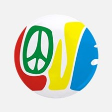 """lovePeace 3.5"""" Button (100 pack)"""