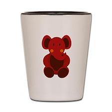 Baby Stuffed Red Elephant Shot Glass