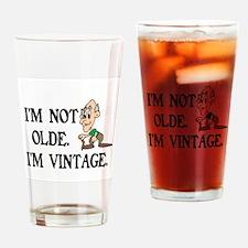 SENIOR MOMENTS - I'M NOT OLDE, I'M  Drinking Glass