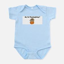 Cute 1st turkey day Infant Bodysuit