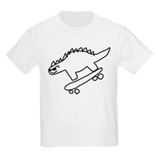 Dino Scateboarding T-Shirt