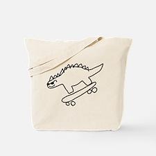 Dino Scateboarding Tote Bag