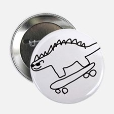 """Dino Scateboarding 2.25"""" Button (10 pack)"""