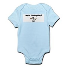 Funny My 1st turkey day Infant Bodysuit