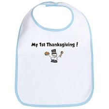 Cute My 1st turkey day Bib