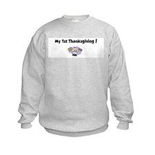 Cute My 1st thanksgiving Sweatshirt