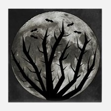 Halloween Moon Tile Coaster