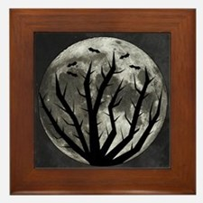 Halloween Moon Framed Tile