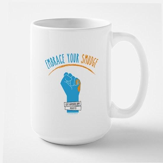 Smudge Blue Large Mug
