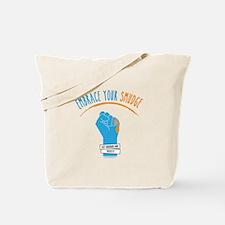 Smudge Blue Tote Bag