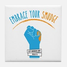 Smudge Blue Tile Coaster