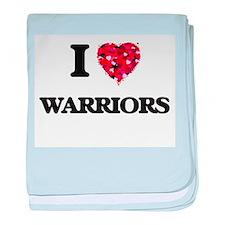 I love Warriors baby blanket