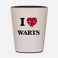 I love Warts Shot Glass