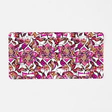 Bright watercolor floral ma Aluminum License Plate
