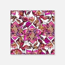 """Bright watercolor floral ma Square Sticker 3"""" x 3"""""""