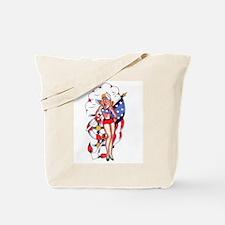 PATRIOTIC GIRL TATTOO ART Tote Bag