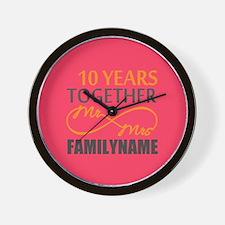 10th Anniversary Infinity Mr and Mrs Pe Wall Clock