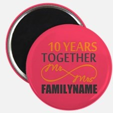 10th Anniversary Infinity Mr and Mrs Person Magnet