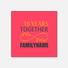 "10th Anniversary Infinity M Square Sticker 3"" x 3"""
