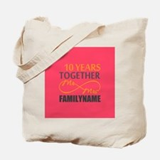 10th Anniversary Infinity Mr and Mrs Pers Tote Bag