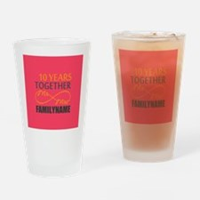 10th Anniversary Infinity Mr and Mr Drinking Glass