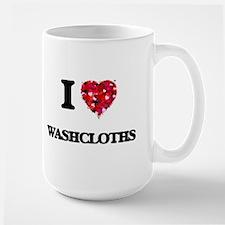 I love Washcloths Mugs