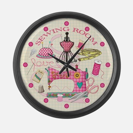 Sewing Large Wall Clock