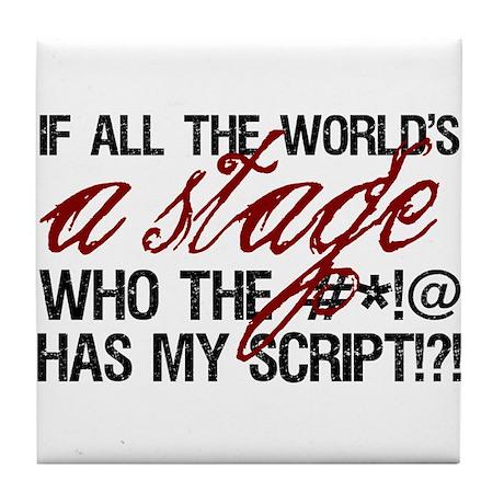 World Stage Tile Coaster