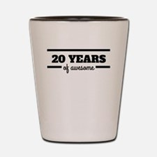 20 Years Of Awesome Shot Glass