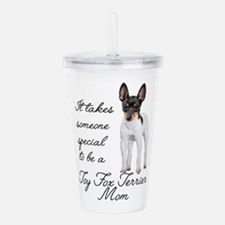 Toy Fox Terrier Mom Acrylic Double-wall Tumbler