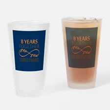 8th Anniversary Infinity Mr and Mrs Drinking Glass