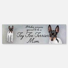 Toy Fox Terrier Mom Bumper Bumper Bumper Sticker