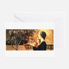 Two Girls with an Oleander by Klimt Greeting Card