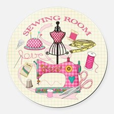 Sewing Round Car Magnet
