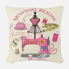 Sewing Room Woven Throw Pillow