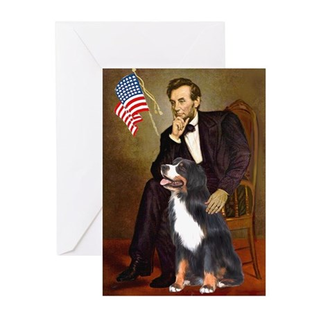 Lincoln & His Bernese Greeting Cards (Pk of 20)