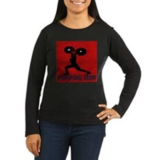 pumping_iron_10by10_red Long Sleeve T-Shirt
