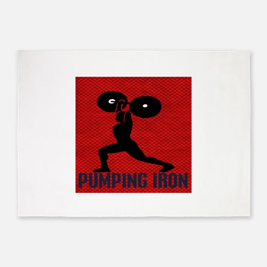 pumping_iron 5'x7'Area Rug