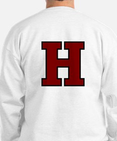 H w/leaning Terrier front & H back Sweatshirt