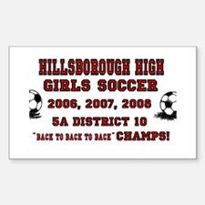 HHS Girls Soccer Champs! Rectangle Decal
