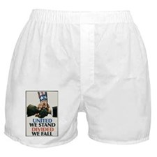United we stand divided we fall  Boxer Shorts