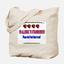 Strawberry Allergy Tote Bag