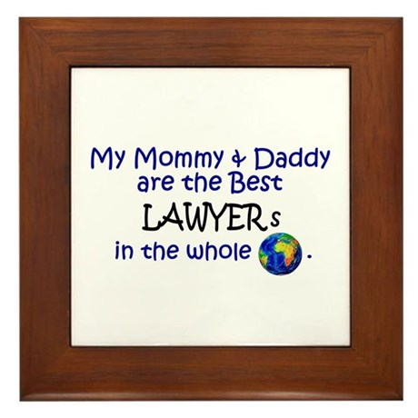 Best Lawyers In The World Framed Tile