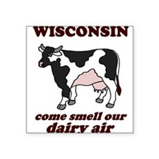 "Cool Dairy cow Square Sticker 3"" x 3"""
