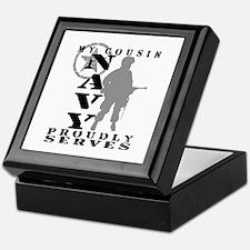 Cousin Proudly Serves - NAVY Keepsake Box