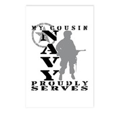 Cousin Proudly Serves - NAVY Postcards (Package of