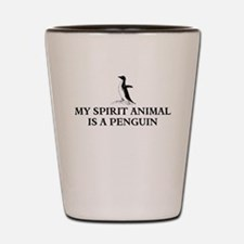 My spirit animal is a penguin Shot Glass