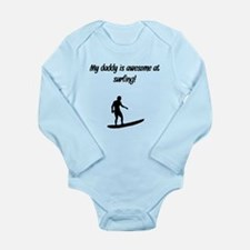 My Daddy Is Awesome At Surfing Body Suit