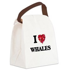 I love Whales Canvas Lunch Bag